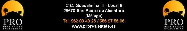 PRO REAL ESTATE GUADALMINA